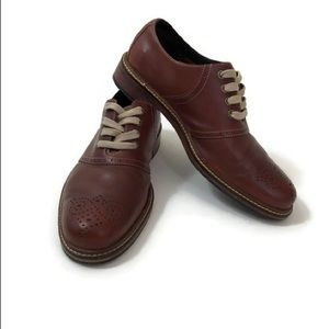 Cole Haan brown men's leather size 9 Oxford shoes